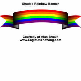 Rainbow Banner - vector #219909 gratis