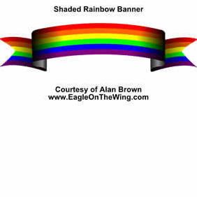 Rainbow Banner - Free vector #219909