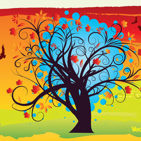 Autumn Background - vector gratuit #219919