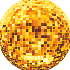 Vector Disco Ball - vector gratuit #219989