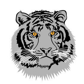 Tiger Head Vector Image - Free vector #220039