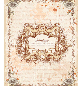 Free frame with floral vector - Kostenloses vector #220289
