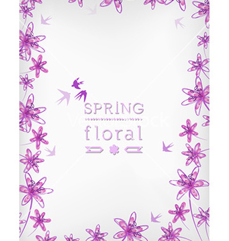 Free floral background vector - Free vector #220379