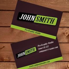 Modern Green Business Card - vector #220479 gratis