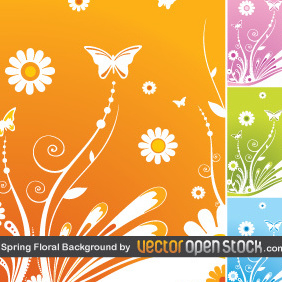 Spring Floral Background By VectorOpenStock - Kostenloses vector #220519