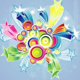 Colorful Art Design - Free vector #220539