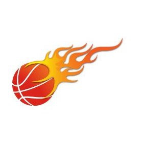 Basketball On Fire Vector - Free vector #220559