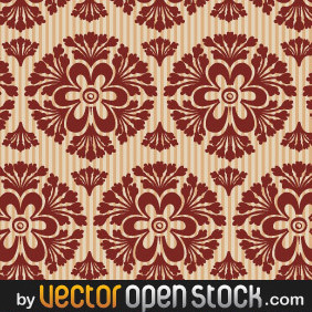 Seamless Retro Wallpaper - Free vector #220689