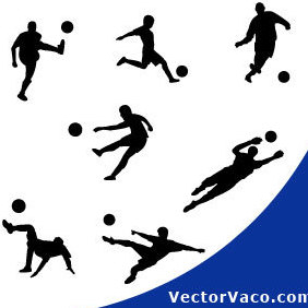 Football Player Silhouettes - vector gratuit #220709