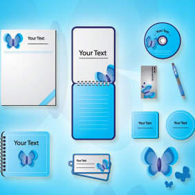 Stationery Design Vectors - бесплатный vector #220839