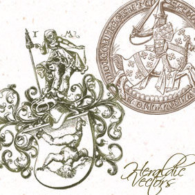 2 Free Heraldic Vector Designs - Free vector #220899