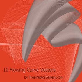 Flowing Curve Vectors - Free vector #221069