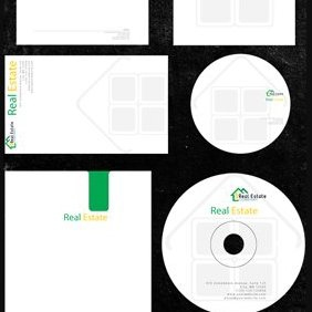 Real Estate Corporate Identity Mega Pack - vector gratuit #221079