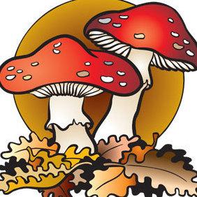 Vector Mushroom - Free vector #221159
