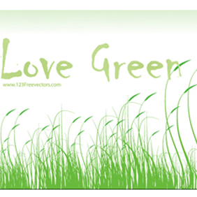 Love Green Vector - vector gratuit #221179