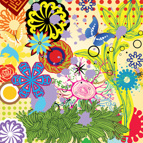 Spring And Summer Nature Vector Art Elements - Kostenloses vector #221279