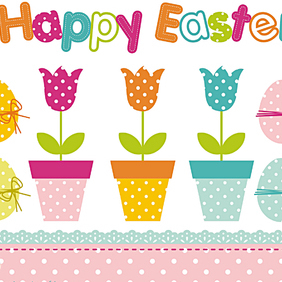 Easter Design Set - Free vector #221389