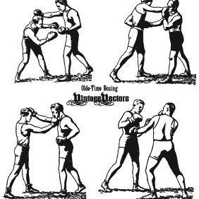 Olde-Time Boxing Punching - Kostenloses vector #221649