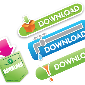 Orion's Download Buttons - vector gratuit #221749