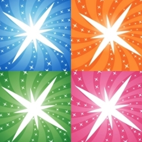Vector Sunbursts With Stars - Free vector #221759