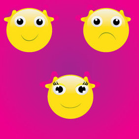 3 Smiley Face - Kostenloses vector #221779