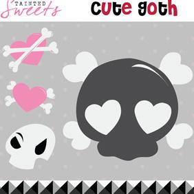 Cute Goth - Free vector #221839