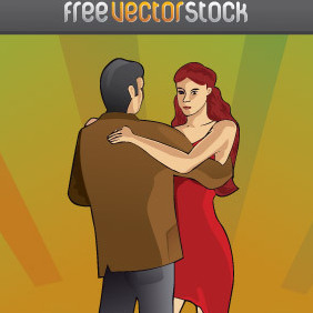 Tango Couple Dancing - vector gratuit #221939