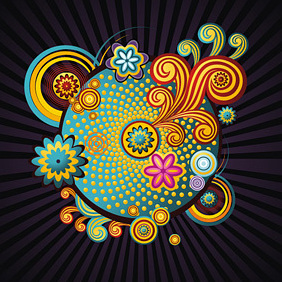 Colorful Swirls - vector #222269 gratis