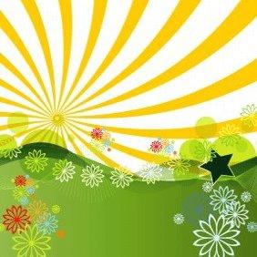 Summer Landscape - vector gratuit #222309