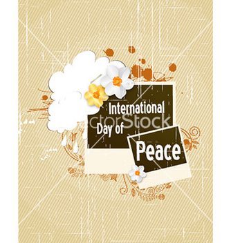 Free international day of peace with photo frame vector - Free vector #222439