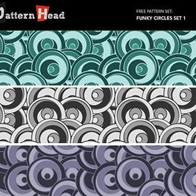 Free Funky Circles Vector Patterns - vector gratuit #222579
