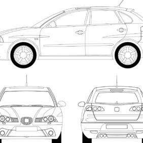 Seat Ibiza - Kostenloses vector #222629