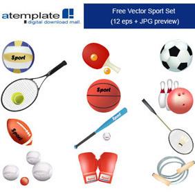 Vector Sport Set - Free vector #222859