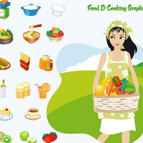 Food And Cooking - Kostenloses vector #223019