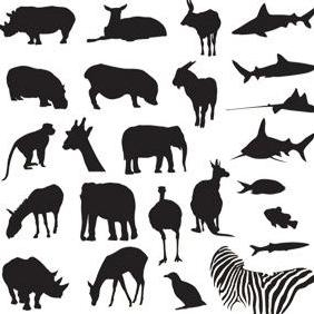 Free Vector Pack Safari And Zoo Animals - Free vector #223169