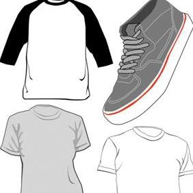 Tshirts And Shoe - Free vector #223219