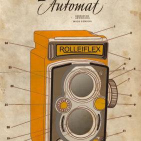 Rolleiflex Camera - Free vector #223469