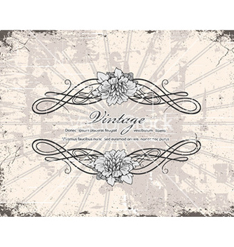 Free vintage floral frame vector - Free vector #223489
