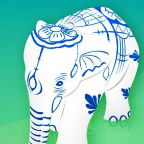 Elephant Figurine - vector gratuit #223589