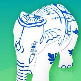 Elephant Figurine - vector #223589 gratis