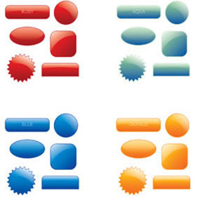 Collection Of 90 Multicoloured Web 20 Style Buttons - Kostenloses vector #223649