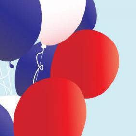 Patriotic Balloons - vector gratuit #223659