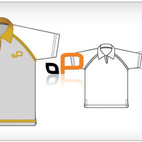 Polo Shirt Template - vector gratuit #223799