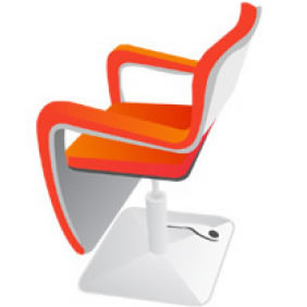 Hairdressing Chair Vector - Free vector #223939