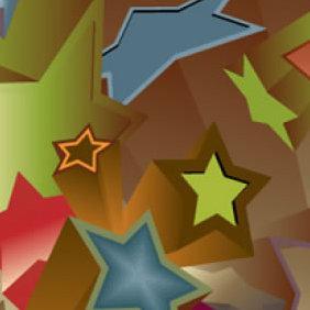 3D Stars Vector - Free vector #223949