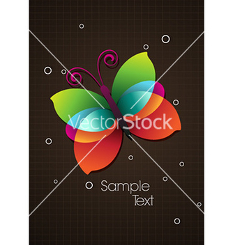 Free colorful butterfly vector - Kostenloses vector #224279