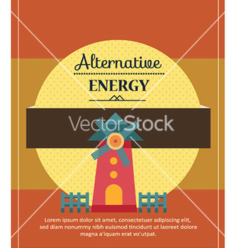 Free with windmill vector - vector #224429 gratis