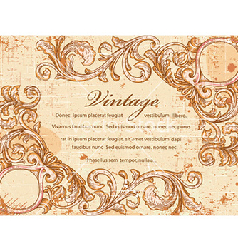 Free grunge vintage frame vector - Kostenloses vector #224719