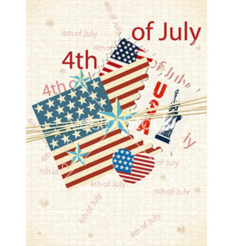 Free 4th of july independence day background vector - Free vector #224829