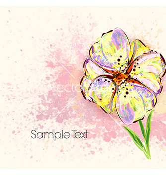 Free watercolor floral background vector - Free vector #225509
